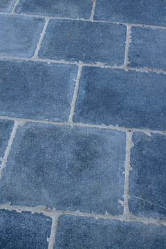 blue slate floor