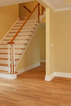 wood floor and stair treads